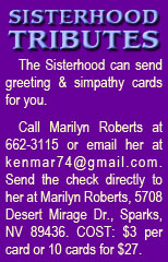 Sisterhood Tributes - click here to email Marilyn Roberts and start yours today!
